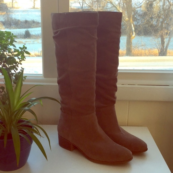 3ea2a4184df Steve Madden light taupe suede tall boot. M 5a697f306bf5a621eeada94b